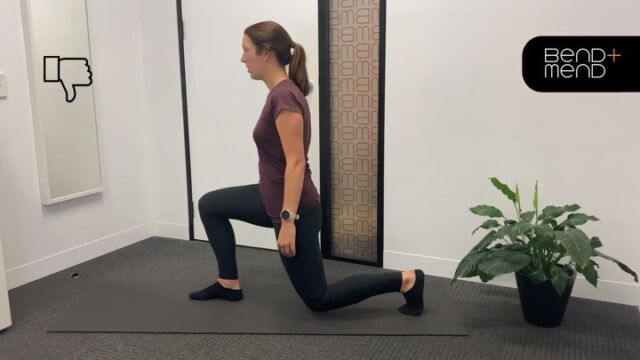 HIP FLEXOR STRETCHAnterior pelvic tilt - mirror says 👎. Posterior pelvic tilt - mirror says 👍.If you can lunge as far forward as video 1, your pelvic position probably needs some adjusting (i.e. into more of a posterior tilt) to improve the stretch through the hip flexor complex.