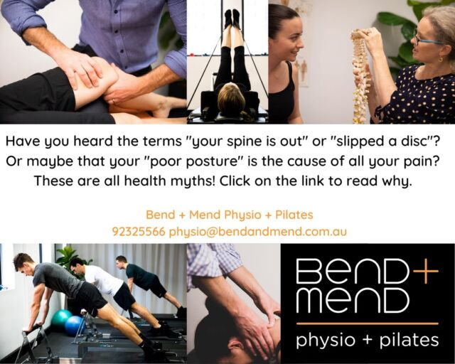 Let's debunk some common myths. How many of these have you previously been told? https://bendandmend.com.au/news/physiotherapy/myths-you-hear-from-health-professionals/